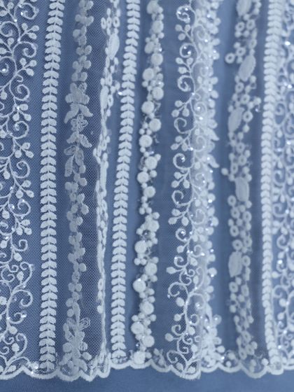 Sequinned Embroidery Lace-135cm/53