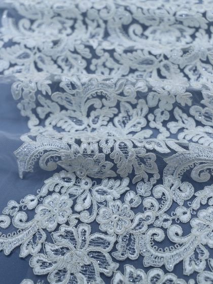 Sequinned Embroidery Lace-60cm/23,5