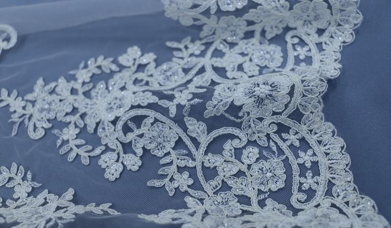 Embroidered Lace Wedding Fabric is a Timeless Classic